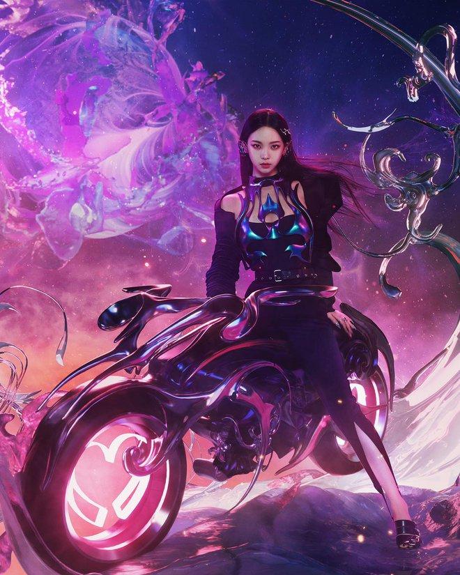 Karina mở màn teaser comeback của aespa: Visual, concept sang-xịn-mịn, nhưng sao đôi dép trông như... của bà ngoại thế này? - ảnh 3