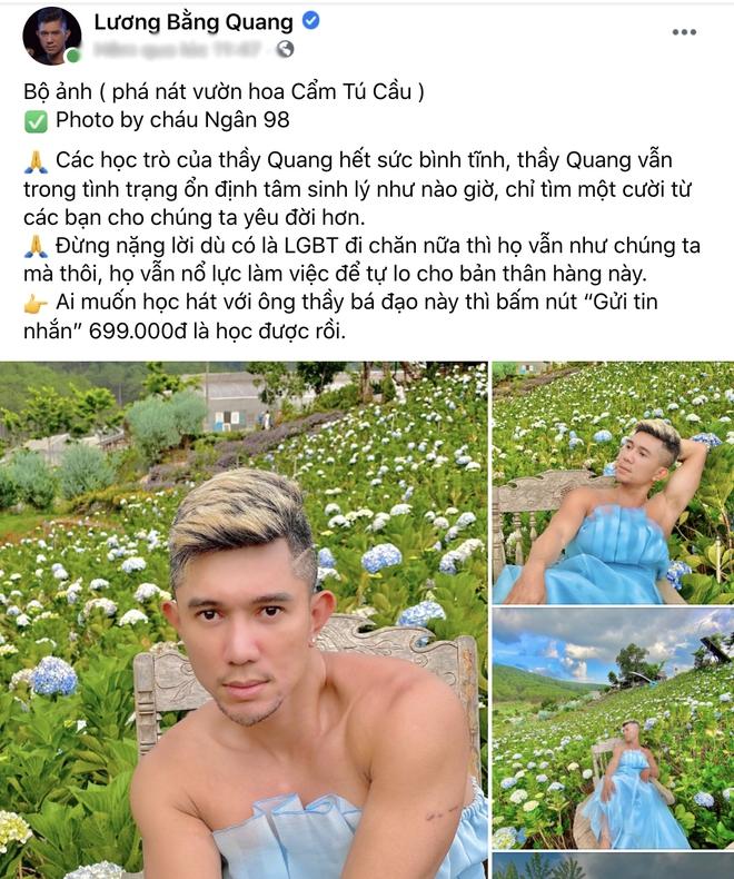 Lương Bằng Quang bị la ó vì diện váy bèo nhún làm lố phản cảm giữa địa điểm du lịch, netizen khóc ròng: Làm ơn tha cho Đà Lạt đi! - ảnh 1
