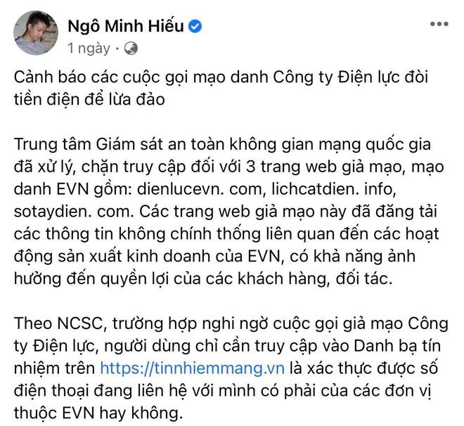 Hiếu PC và Điện lực Việt Nam lên tiếng cảnh báo chiêu trò lừa đảo, mạo danh đòi tiền điện đang diễn ra rầm rộ! - ảnh 3