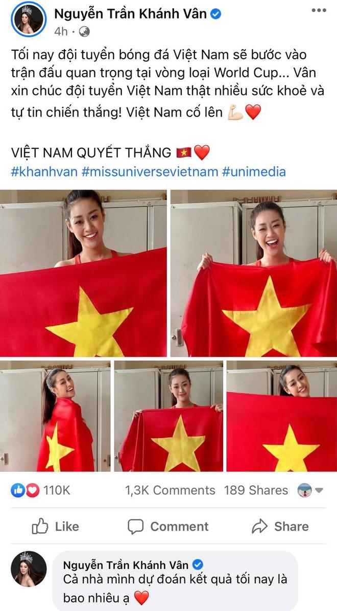 Xuân Hinh, Khánh Vân và dàn sao hừng hực khí thế cổ vũ tuyển Việt Nam: Tất cả đu trend đoán tỉ số, con gái Đông Nhi gây sốt - ảnh 1