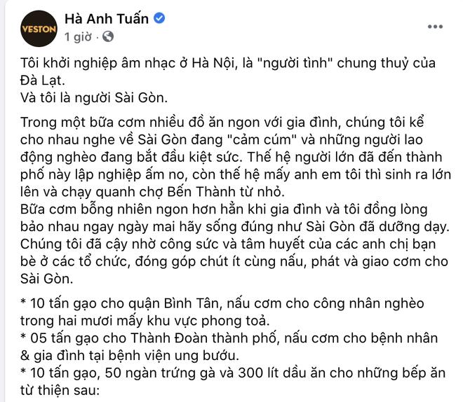 Ngồi ăn cơm bỗng xót xa bàn chuyện Sài Gòn oằn mình vì dịch, gia đình Hà Anh Tuấn đồng lòng quyên góp luôn 25 tấn gạo cho người dân - ảnh 1