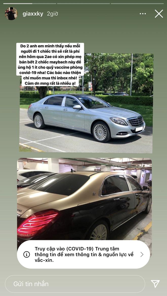 Rich kid 2k3 đi Maybach tiếp tục rao bán 2 chiếc xe chục tỷ ủng hộ Quỹ vaccine Covid-19 - ảnh 2