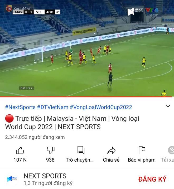 Cho Rap Việt hít khói, trận đấu Việt Nam - Malaysia chính thức lập kỷ lục Đông Nam Á với hơn 2,3 triệu người xem - ảnh 1