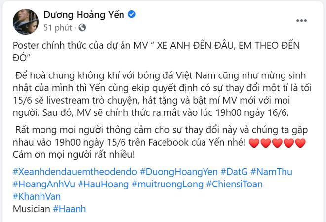 Nam Thư đúng là trưởng nhóm ship Hậu Hoàng - Mũi Trưởng Long rồi, chèo thuyền ngay trên poster MV của Dương Hoàng Yến - ảnh 6