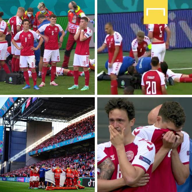 Tình người xúc động ở khoảnh khắc Eriksen ngã xuống: Đồng đội cứu đồng đội, cả khán đài rơi nước mắt cầu nguyện - ảnh 8