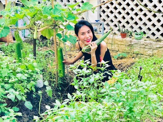 Sống giữa khu nhà giàu mà Thuỷ Tiên vẫn có vườn rau rộng 100m2: Không cần đi chợ vì quá sum suê, rau gì cũng có! - Ảnh 4.