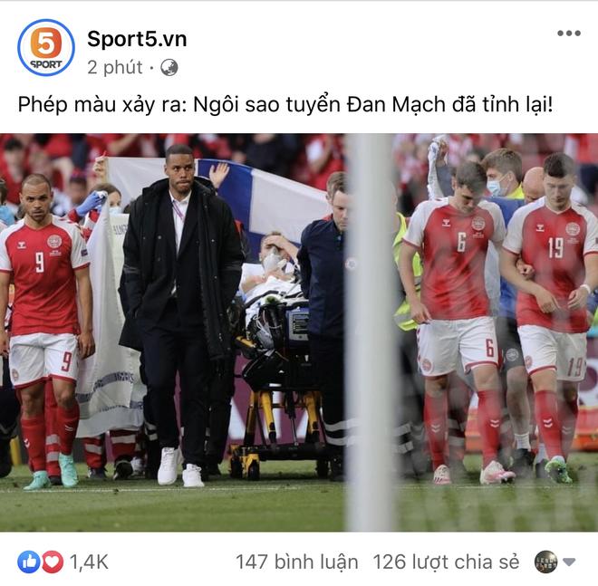 Dân mạng Việt đi từ bàng hoàng đến vỡ oà khi chứng kiến cầu thủ số 1 Đan Mạch đột quỵ ngay trên sân đấu Euro - ảnh 2