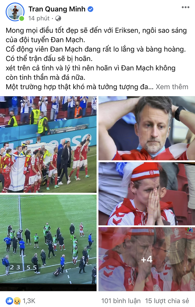 Dân mạng Việt đi từ bàng hoàng đến vỡ oà khi chứng kiến cầu thủ số 1 Đan Mạch đột quỵ ngay trên sân đấu Euro - ảnh 6