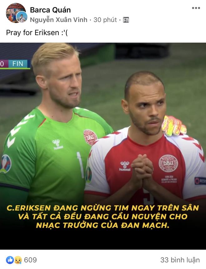 Dân mạng Việt đi từ bàng hoàng đến vỡ oà khi chứng kiến cầu thủ số 1 Đan Mạch đột quỵ ngay trên sân đấu Euro - ảnh 7
