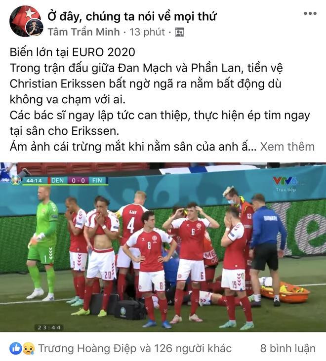 Dân mạng Việt đi từ bàng hoàng đến vỡ oà khi chứng kiến cầu thủ số 1 Đan Mạch đột quỵ ngay trên sân đấu Euro - ảnh 8