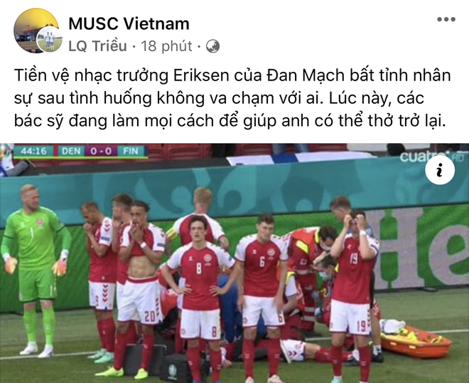Dân mạng Việt đi từ bàng hoàng đến vỡ oà khi chứng kiến cầu thủ số 1 Đan Mạch đột quỵ ngay trên sân đấu Euro - ảnh 10