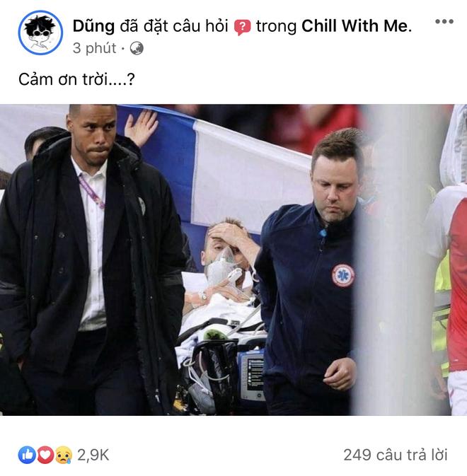 Dân mạng Việt đi từ bàng hoàng đến vỡ oà khi chứng kiến cầu thủ số 1 Đan Mạch đột quỵ ngay trên sân đấu Euro - ảnh 3