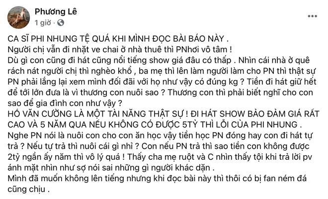 Hoa hậu ở nhà 200 tỷ chỉ trích Phi Nhung vì để chị ruột Hồ Văn Cường sống khổ: Thương con thì phải biết nghĩ cho con! - ảnh 1
