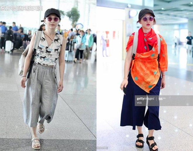 Muôn vẻ thảm hoạ thời trang sân bay của sao Cbiz: Từ xuề xoà, mặc xấu nhè nhẹ cho tới những phong cách không tả được bằng lời... - Ảnh 12.
