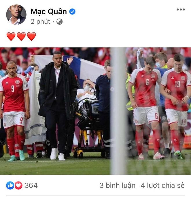 Diệu Nhi bật khóc, Trịnh Thăng Bình và dàn sao Việt cầu nguyện cho cầu thủ Erikse tuyển Đan Mạch đột quỵ trên sân đấu Euro - ảnh 8