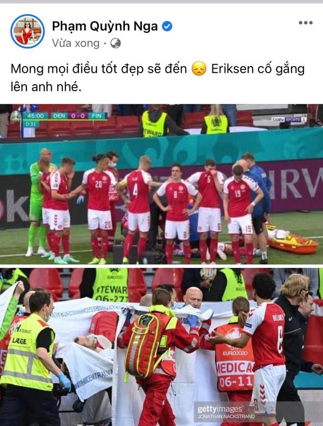 Diệu Nhi bật khóc, Trịnh Thăng Bình và dàn sao Việt cầu nguyện cho cầu thủ Erikse tuyển Đan Mạch đột quỵ trên sân đấu Euro - ảnh 9