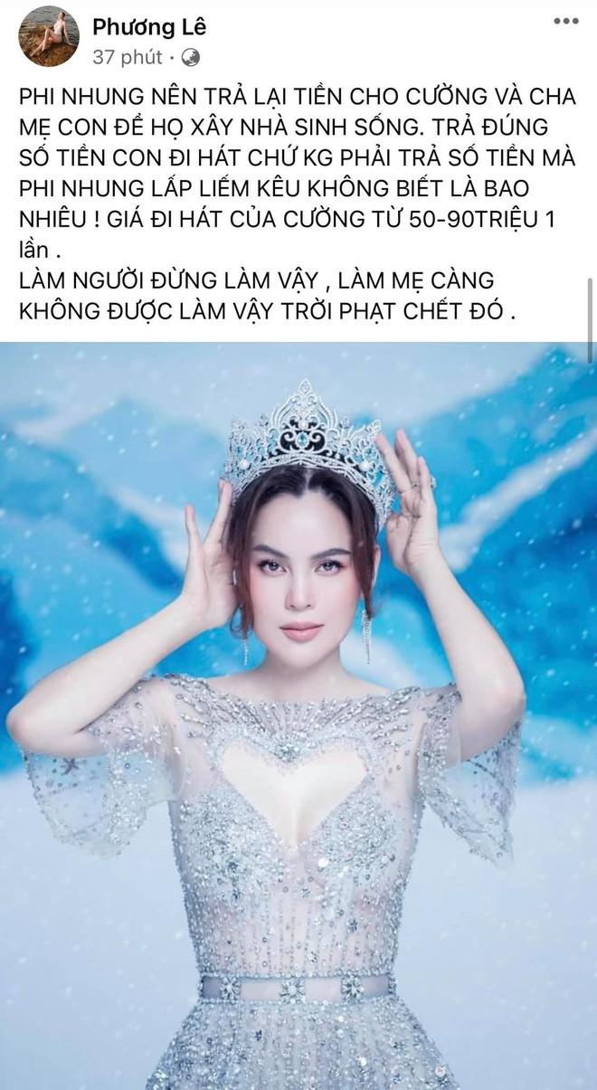 Hoa hậu ở nhà 200 tỷ tố thẳng Phi Nhung lấp liếm tiền bạc, tiết lộ giá cát xê gây choáng của Hồ Văn Cường - ảnh 1