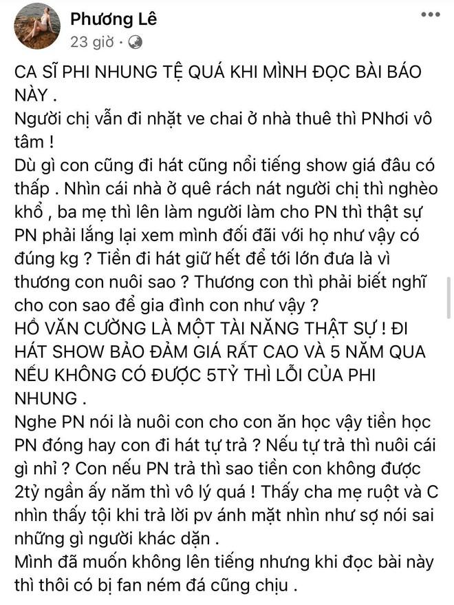 Hoa hậu ở nhà 200 tỷ tố thẳng Phi Nhung lấp liếm tiền bạc, tiết lộ giá cát xê gây choáng của Hồ Văn Cường - ảnh 2