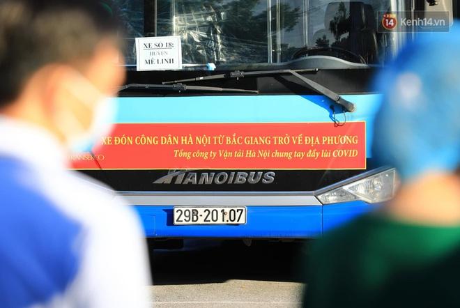 Ảnh: Đưa gần 300 công nhân từ tâm dịch Bắc Giang về Hà Nội trong quy trình nghiêm ngặt - ảnh 4