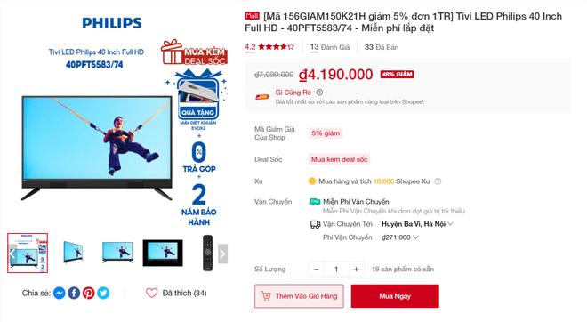 """3 mẫu tivi đang được giảm giá đến 40%, không """"chốt đơn bây giờ thì đợi đến bao giờ? - ảnh 10"""