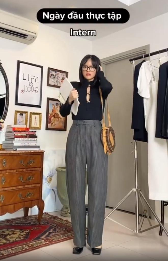 """Khánh Linh làm clip """"biến hình"""" thời trang, cơ mà sao nhìn cứ giống Mợ cả trong Mine thế này? - ảnh 9"""