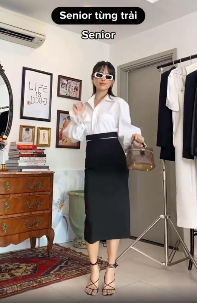 """Khánh Linh làm clip """"biến hình"""" thời trang, cơ mà sao nhìn cứ giống Mợ cả trong Mine thế này? - ảnh 12"""