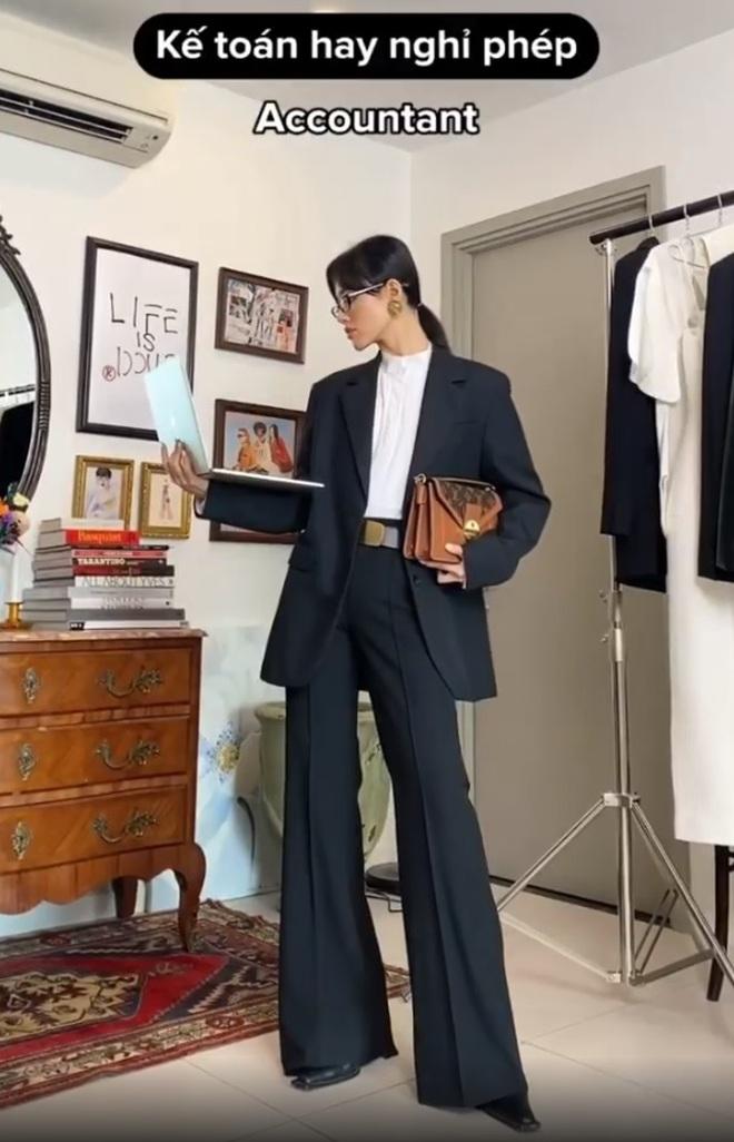 """Khánh Linh làm clip """"biến hình"""" thời trang, cơ mà sao nhìn cứ giống Mợ cả trong Mine thế này? - ảnh 13"""