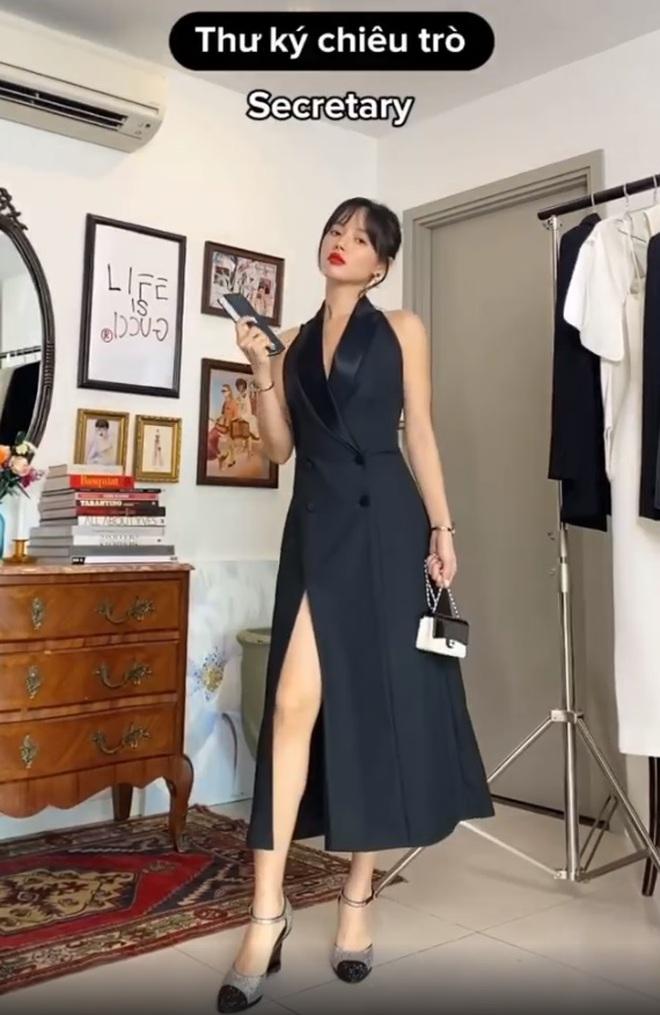 """Khánh Linh làm clip """"biến hình"""" thời trang, cơ mà sao nhìn cứ giống Mợ cả trong Mine thế này? - ảnh 3"""