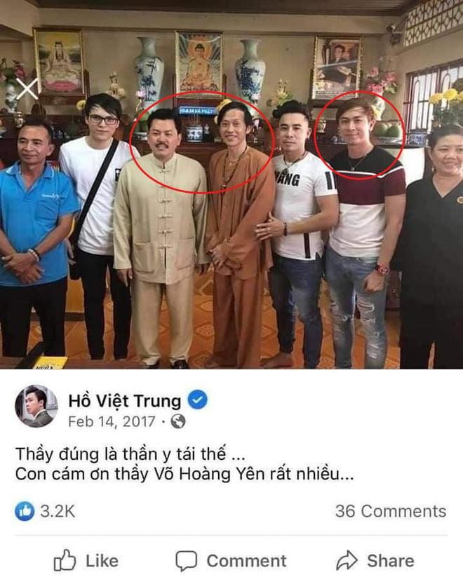 Rộ ảnh Hồ Việt Trung cười tươi rói bên NS Hoài Linh, còn tâng bốc gọi Võ Hoàng Yên là thần y tái thế? - ảnh 1