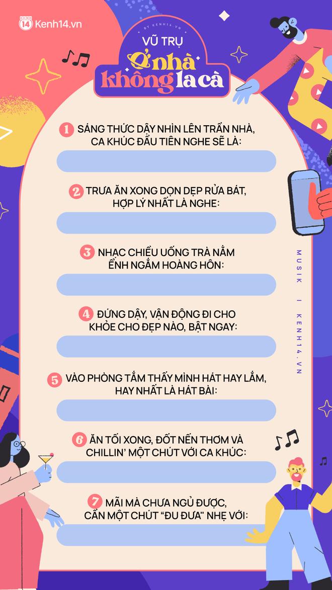 Ngọc Trinh, Phí Phương Anh và dàn sao Vpop ở nhà chơi template cực cool, biết hết gu nhạc cùng nhiều funfact thú vị khác, bạn chơi cùng không? - ảnh 12