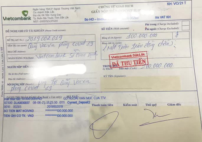 Một bác sĩ đóng góp Quỹ vắc-xin phòng chống Covid-19 100 triệu đồng - ảnh 1