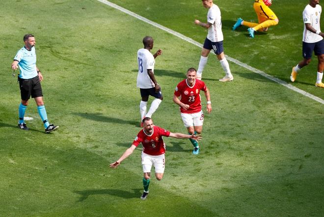 Bất ngờ phá lưới ĐT Pháp, cầu thủ Hungary ăn mừng quá sung khiến nữ phóng viên hết hồn - ảnh 2