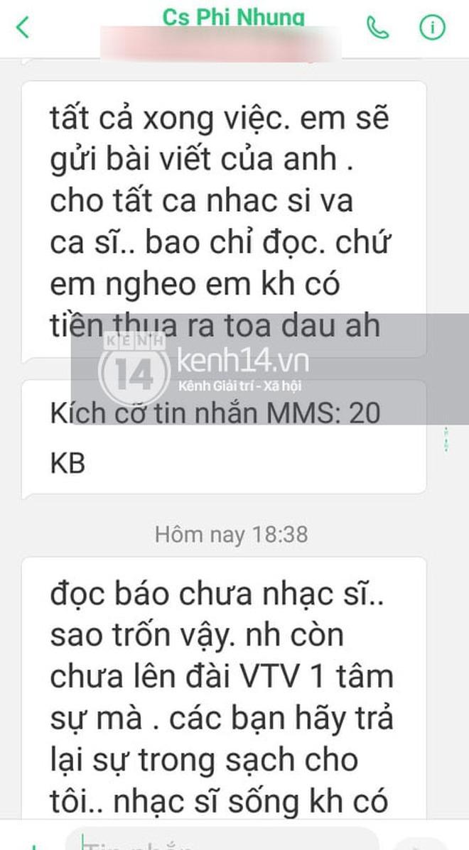 Phía Phi Nhung chính thức lên tiếng sau khi bị nhạc sĩ Chim Trắng Mồ Côi đăng đàn tố uy hiếp và đe doạ - ảnh 3