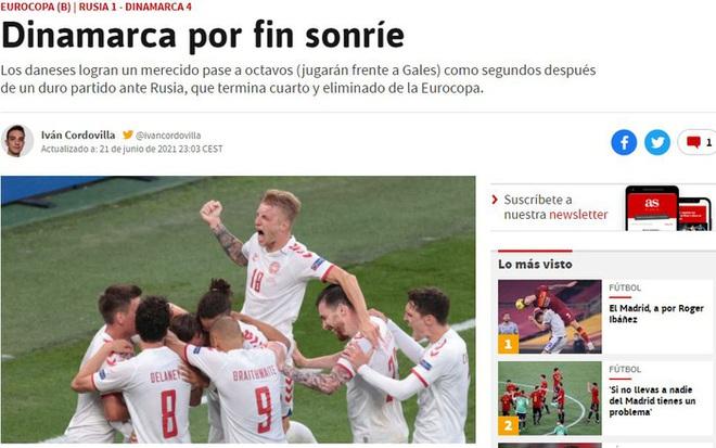 Báo chí thế giới ngã mũ thán phục trước màn thoát hiểm thần kỳ của Đan Mạch ở Euro 2020 - ảnh 4