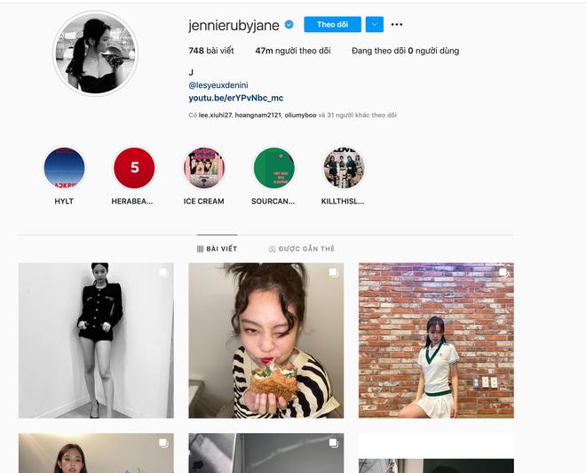 Jennie (BLACKPINK) chính thức cán mốc 47 triệu follow trên Instagram, chỉ xếp sau một người trong showbiz Hàn - ảnh 3