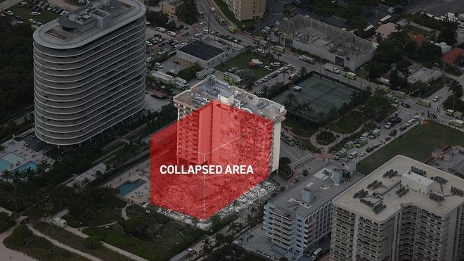 Hiện trường đổ nát vụ sập chung cư kinh hoàng ở Miami (Mỹ) - ảnh 14