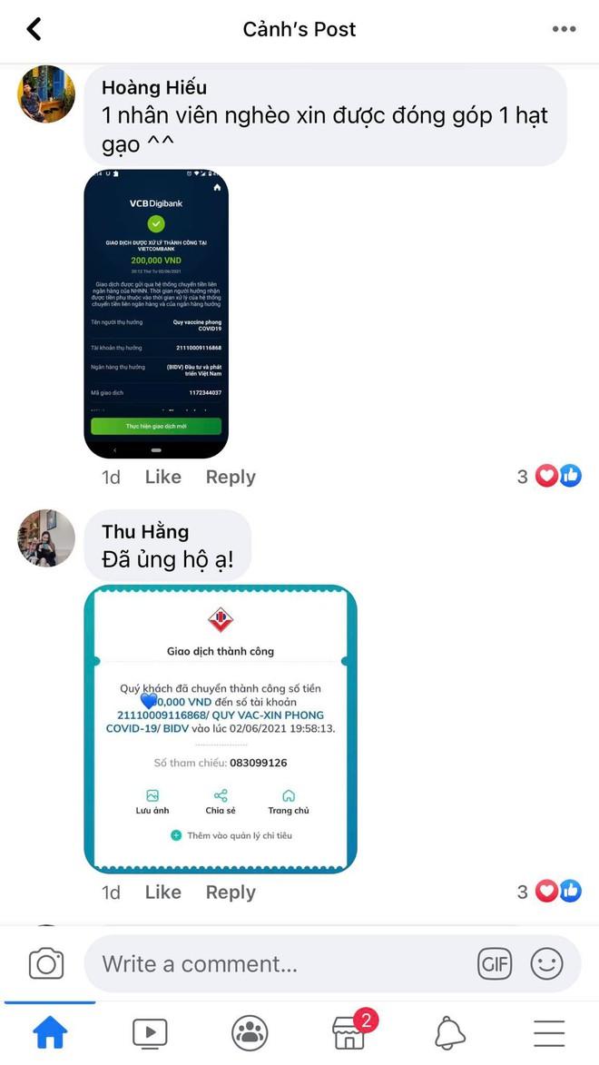 """Ảnh chụp màn hình hot nhất MXH lúc này: Dân mạng thi nhau khoe đã """"góp gạo"""" cùng những lời chúc đáng yêu đến Quỹ Vaccine Covid-19 - Ảnh 4."""