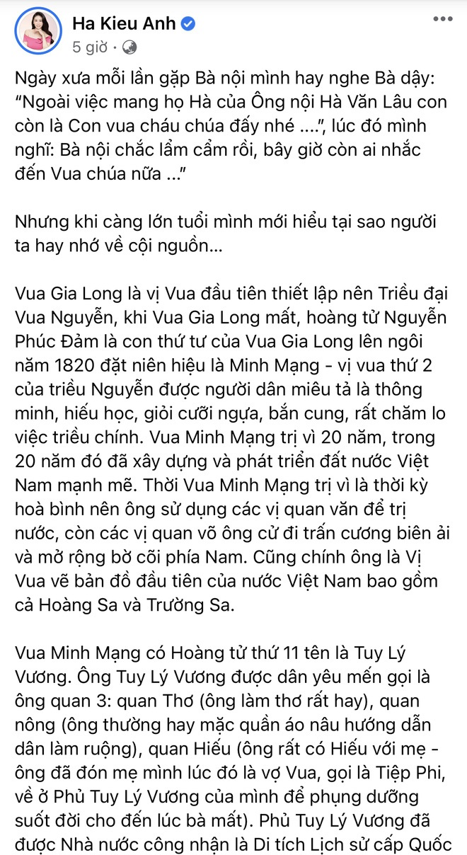 """Hà Kiều Anh chính thức lên tiếng và xin lỗi khán giả về ồn ào """"Công chúa triều Nguyễn"""" - Ảnh 3."""