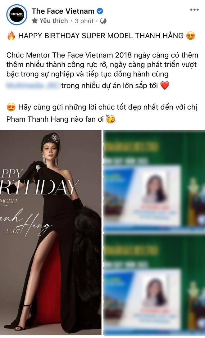 Thanh Hằng được ê-kíp The Face chúc mừng sinh nhật nhưng lại đăng kèm hình ai thế này? - ảnh 3