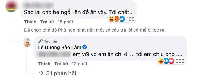 """Lê Dương Bảo Lâm hứng nguyên rổ """"gạch"""" từ netizen vì để con gái ngồi lên thực phẩm chụp ảnh, lời giải thích có hợp lý? - ảnh 2"""