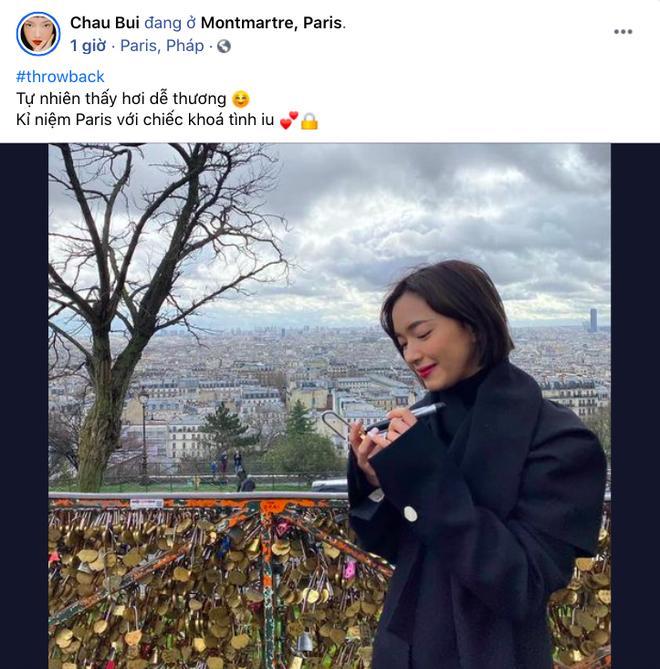 Châu Bùi bỗng nhớ kỷ niệm ở Paris và ổ khoá tình yêu, dân tình gọi tên Decao giữa ồn ào bồ cũ rapper số 1 lộ ảnh nóng - ảnh 2
