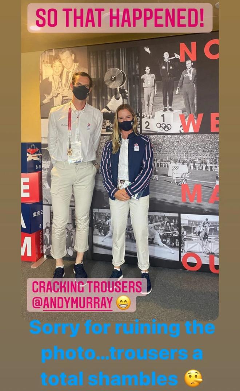 Andy Murray chụp chung với nữ VĐV xinh đẹp trước thềm Olympic, ai ngờ phải lên tiếng xin lỗi chỉ vì... cái quần - ảnh 1