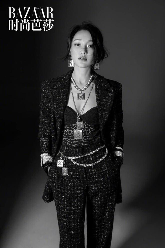 Cùng được Chanel đẩy bìa, Tống Thiến lép vế thấy rõ trước Châu Tấn, Liu Wen - ảnh 1