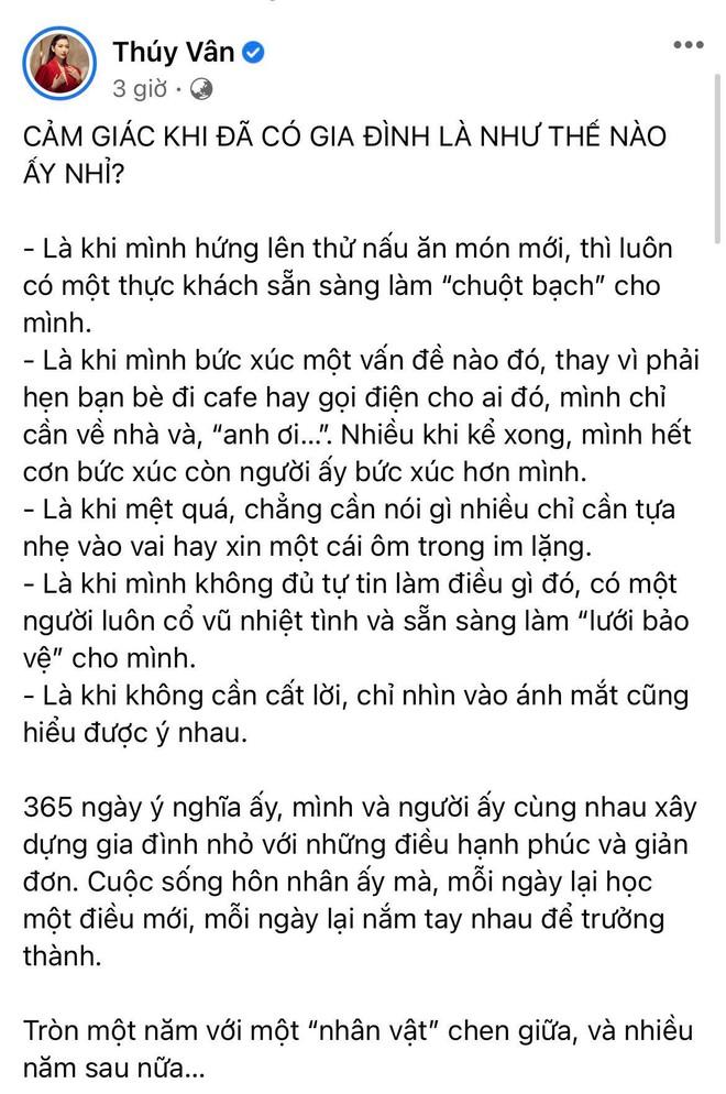 Á hậu Thuý Vân tiết lộ 5 điều thay đổi sau đúng 1 năm kết hôn, nghe qua là biết chồng doanh nhân tâm lý cỡ nào! - ảnh 1