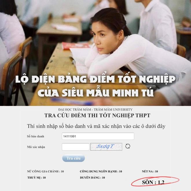 Minh Tú khoe bảng điểm thi tốt nghiệp có một không hai mà gây sốt MXH, ai ngờ có 1 môn ăn... điểm liệt - ảnh 2
