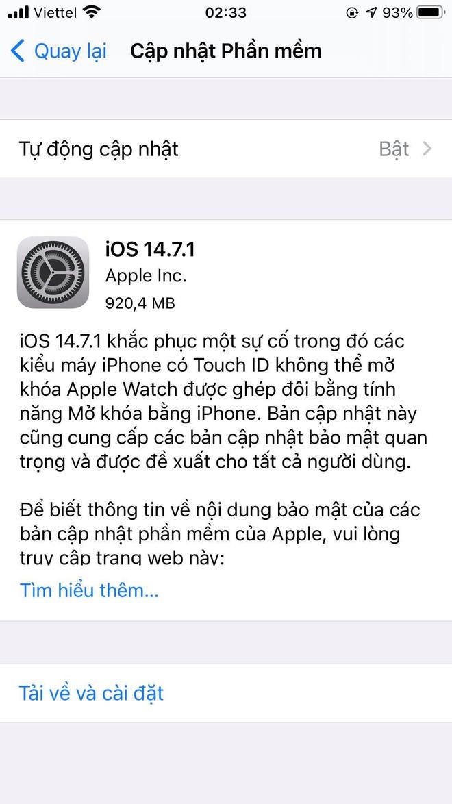 Apple vội vã tung bản vá lỗi iOS 14.7.1 trong đêm, người dùng cần cập nhật ngay - Ảnh 3.