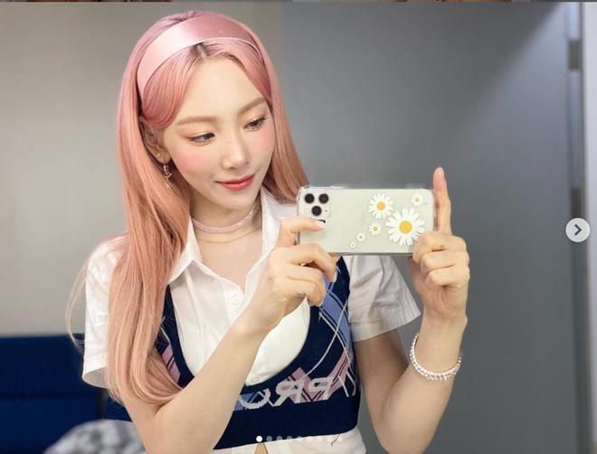Netizen phát hiện Taeyeon (SNSD) đổi màu tóc thì phải đổi luôn cả điện thoại, chiếc ốp lưng cũng cực kỳ rát ví - ảnh 4