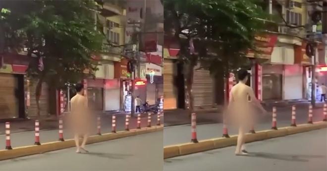 Xôn xao hình ảnh nam thanh niên khỏa thân thản nhiên đi bộ trên đường phố Hải Phòng - ảnh 1