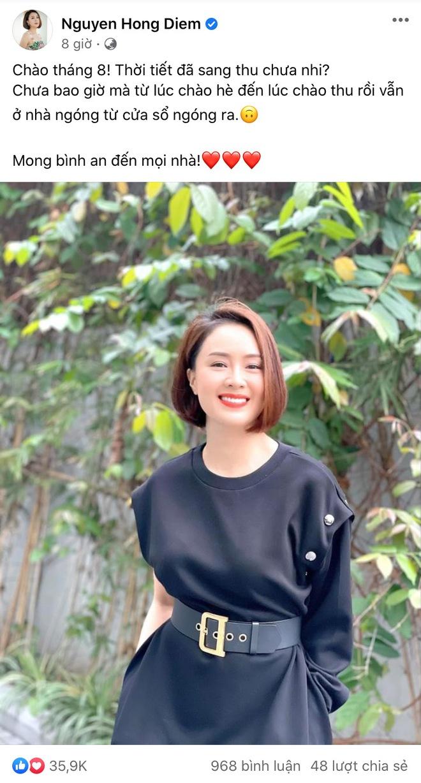Diễn viên Hồng Diễm tái xuất mạng xã hội sau hơn 1 tháng mất hút, Hồng Đăng - Mạnh Trường lập tức vào cà khịa? - ảnh 1