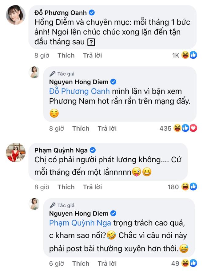 Diễn viên Hồng Diễm tái xuất mạng xã hội sau hơn 1 tháng mất hút, Hồng Đăng - Mạnh Trường lập tức vào cà khịa? - ảnh 4